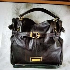 Burberry Belted Pebbled Leather Tote Large